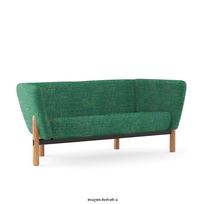O sofá Flow Talk da Sittz proporciona ambiente ideal para interações e momentos de descontração.